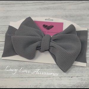 Handmade beautiful gray nylon turban head wrap!